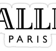 BALLIN - Balmain Parody, (Black on White) Sticker