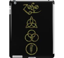 ANCIENT PAGAN ELEMENTS SYMBOLS (V) - olive grunge NEW iPad Case/Skin