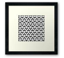 Neo-Goth Cicada Pattern Framed Print
