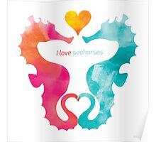 Love Seahorses - Heart Sun Poster