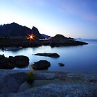 A night in the Lofoten Islands by Willy Vendeville