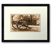 #611    Civil War Cannon Framed Print