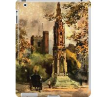 The Martyr's Memorial, Magdalen Street, Oxford 1853 iPad Case/Skin