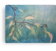 Watercolour: Gum leaves ethereal Canvas Print