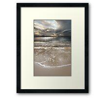 A Soft, Silver Evening Framed Print