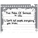 2 Rules Of Success in Life by anfa