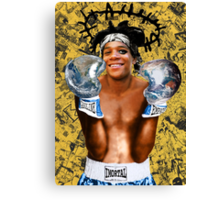 """Samoking"", Basquiat takes on the world Canvas Print"