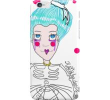 Doll girl with heart mouth iPhone Case/Skin