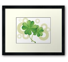 Saint Patrick's Day - Clovers Framed Print