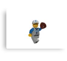 LEGO Baseball Fielder Canvas Print