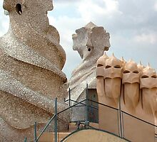 La Pedrera rooftop by Angus Russell