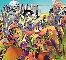 XD FRACTAL FLOWER GARDEN 2 by Günter Maria  Knauth