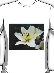 White Lily in the garden 4 T-Shirt