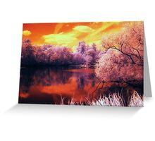 Tangerine trees and Marmalade skies (Lucy in the sky with diamonds  - The Beatles) Greeting Card