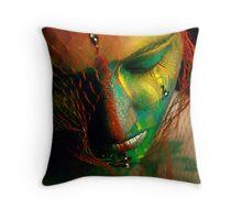 Rainbowface Throw Pillow