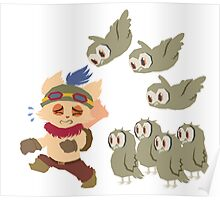 God Damn Owls Teemo Art Poster