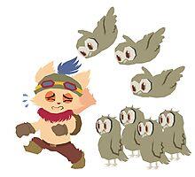 God Damn Owls Teemo Art Photographic Print