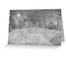 Wonderful winter night in Russia. Halftone effect. Greeting Card