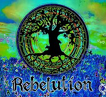 Rebelution Tree of Life #2 'Illuminated Side of Life' Beautiful Vibrant Moonlit SkyScape Band Art Psychedelic Landscape Design by CAP by capartwork