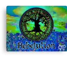 Rebelution Tree of Life #2 'Illuminated Side of Life' Beautiful Vibrant Moonlit SkyScape Band Art Psychedelic Landscape Design by CAP Canvas Print
