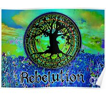 Rebelution Tree of Life #2 'Illuminated Side of Life' Beautiful Vibrant Moonlit SkyScape Band Art Psychedelic Landscape Design by CAP Poster