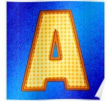Retro Modern Alphabet - Letter A Poster