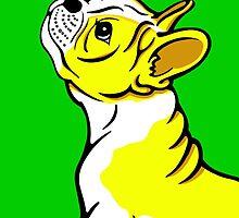 Boston Bull Terrier Puppy Yellow by Sookiesooker