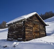 A barn in the Snow by Steve plowman