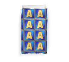 Retro Modern Alphabet - Letter A Duvet Cover