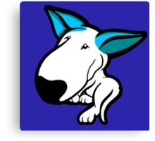 Aqua Ears English Bull Terrier Puppy Canvas Print