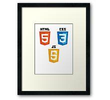 HTML5 Framed Print