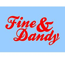 Fine & Dandy Extras: Blue & Red Photographic Print