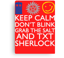 SUPERWHOLOCK SUPERNATURAL DOCTOR WHO SHERLOCK Canvas Print