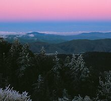 WINTER SUNSET,CLINGMANS DOME by Chuck Wickham
