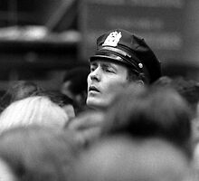 Manhattan. Street scene, 1974. Cop on the beat. by Daniel Sorine