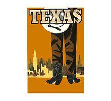 Texas Vintage Travel Poster by AmazingMart