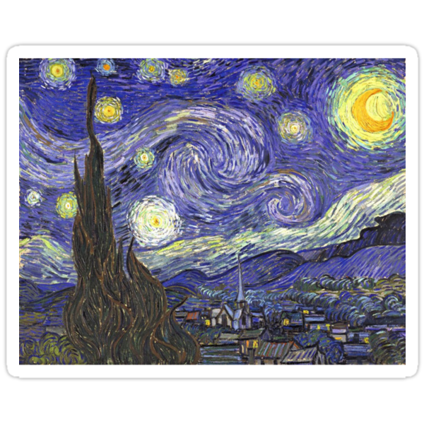 Vincent van Gogh, Starry Night.  by naturematters