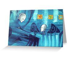 blue spirits dance Greeting Card