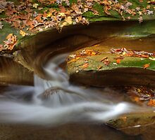 Fall Creek Gorge - Water Slide by Jeff VanDyke