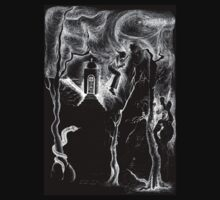 Halloween tee - white on black by Gili Orr