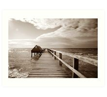 Storms on Shelly's beach Art Print