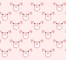 Cute Pink Pig  by piedaydesigns