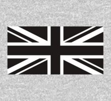 Black and White UK Flag by shabzdesigns