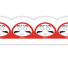 Daruma Tee - Basic Row Sticker