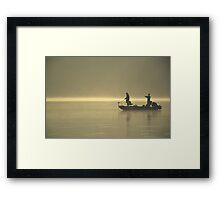 Friends Fishing Framed Print