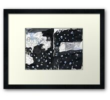 the earth is round and the universe is flat Framed Print