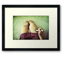 Writing for Love Framed Print
