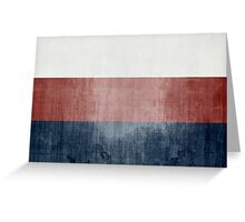 Grunge Flag Of Russia Greeting Card