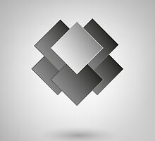 Abstract Design On Gray Background by Olga Altunina