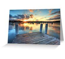 Sunset Point Frederick Wharf Gosford Greeting Card